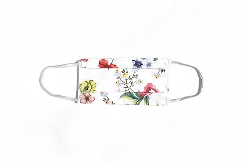 Masque Fleurs multico/blanc