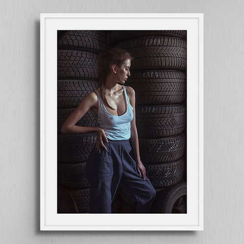 Poster Tire fitting