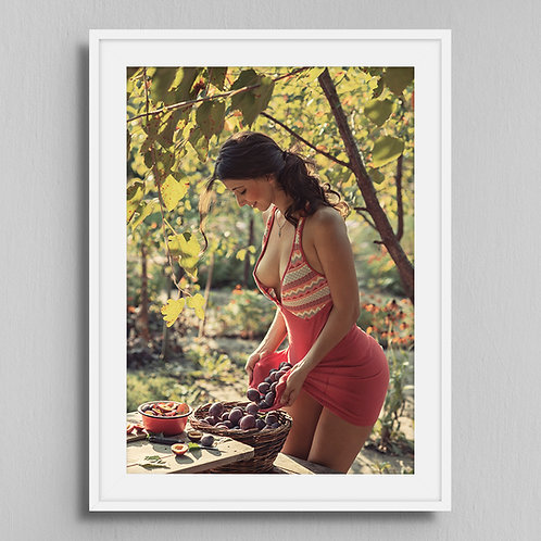 Poster Girl with plums
