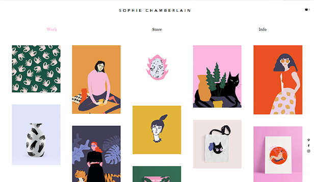 Portfolio website templates – Grafik – ilustrátor