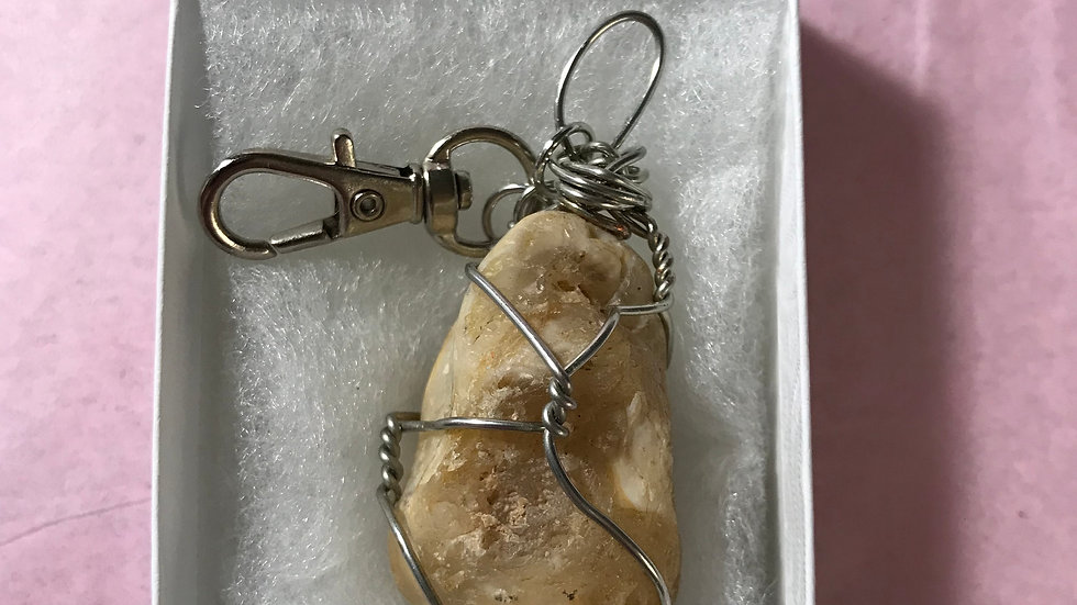 Agate Keychain