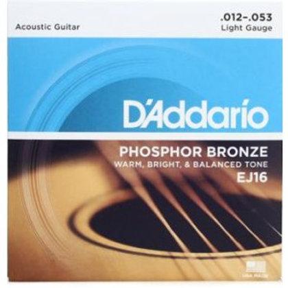 D'Addario EJ16 Phosphor Bronze Acoustic Strings