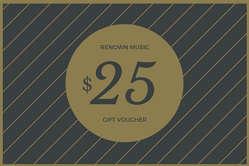 $25 Retail/Repair Gift Certificate