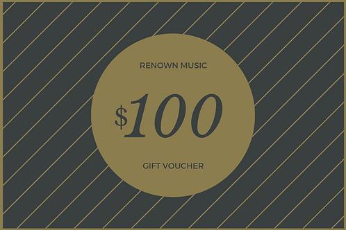 $100 Retail/Repair Gift Certificate