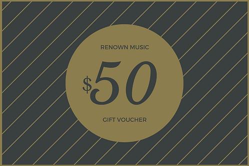 $50 Retail/Repair Gift Certificate