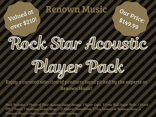 Rock Star Acoustic Player Pack