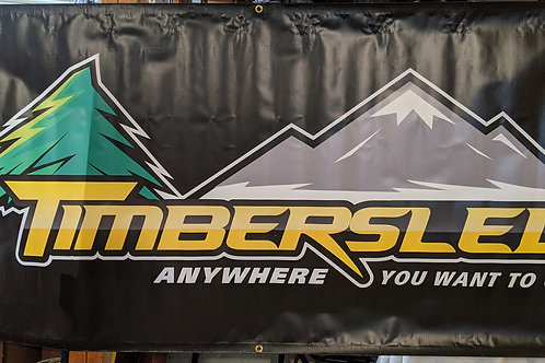 Timbersled Banner 6' wide x 3' tall