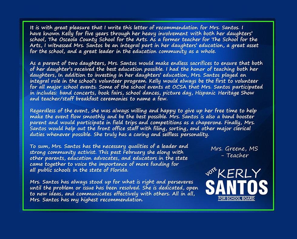 2020 Santos - Testi 3-60 - Mrs. Greene L