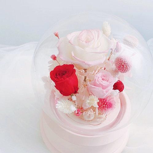 Flower in BluetoothSpeaker Glass 藍牙喇叭保鮮花玻璃瓶