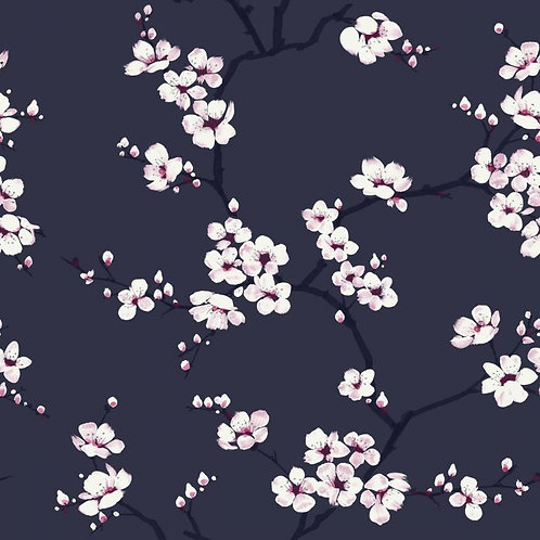 Apple Blossom Navy/Pink