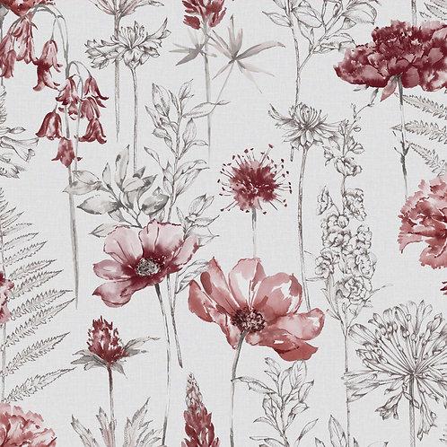 Floral Sketch Red