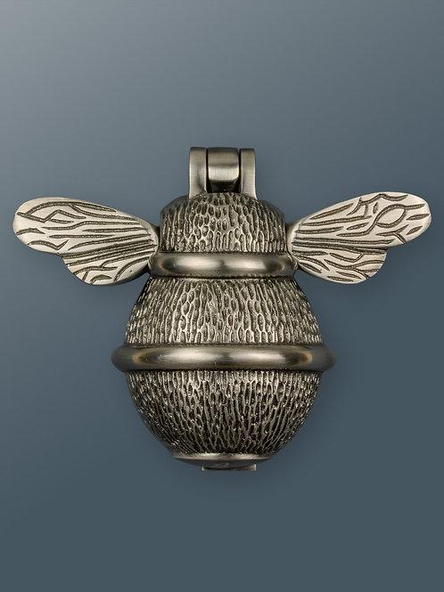 Brass Bee Knocker -  Pewter