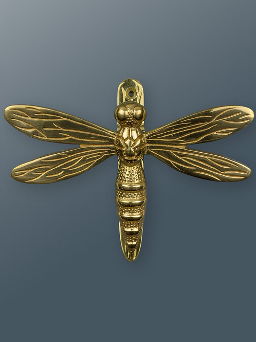 Brass Dragonfly Knocker - Brass Finish