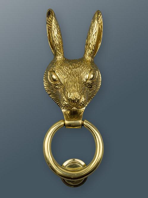 Brass Hare Knocker - Brass Finish