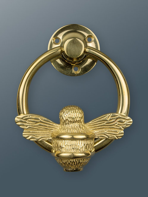 Brass Ring Bee Knocker - Brass