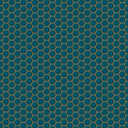 Hexigon Lattice - Teal