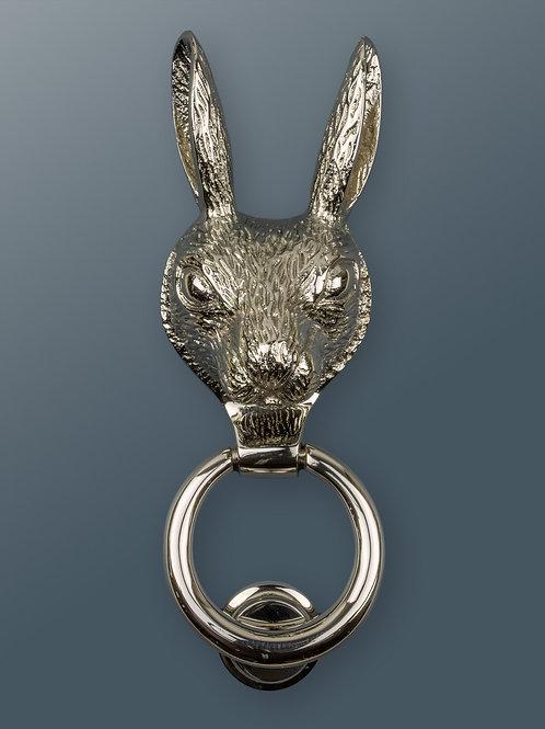 Brass Hare Knocker - Nickel Finish