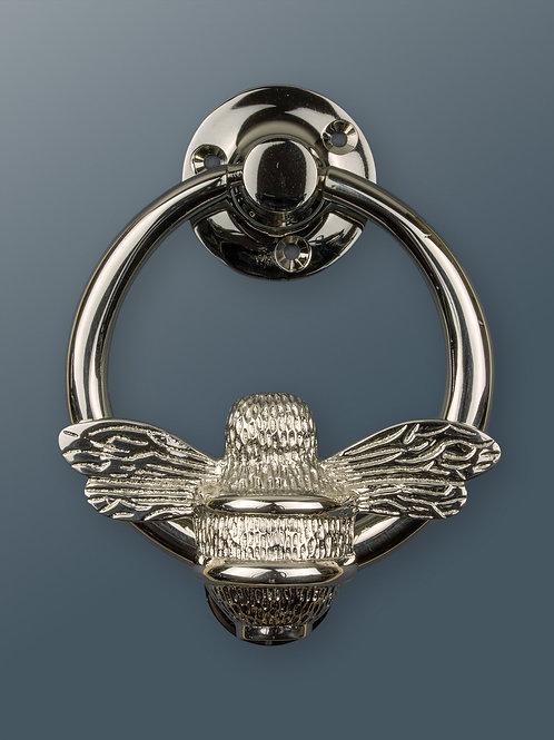 Brass Ring Bee Knocker - Nickel