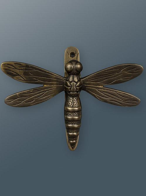 Brass Dragonfly Knocker - Bronze Finish