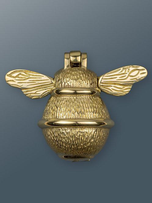 Brass Bee Knocker - Brass Finish