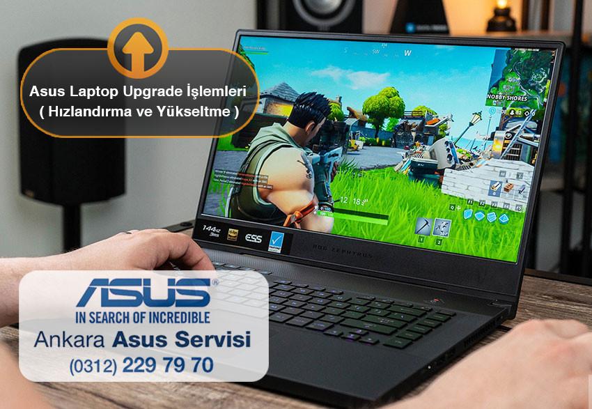 Asus laptop ve notebooklar için upgrade yani yükseltme hizmetlerimiz bulunmaktadır. Asus laptoplar için ram yükseltme, harddisk ve ssd harddisk değişimi işlemleri yapılmaktadır.