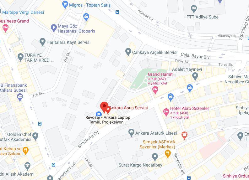 Asus Servisi Ankara Google Harita Adresi