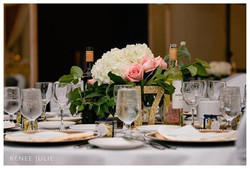 hydrangea and rose centerpiece delta fredericton decor wedding
