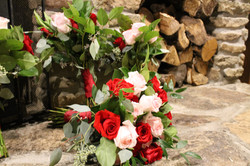 marsala and blush bouquet 1