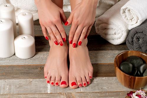 Manicure y pedicure spa + esmalte en gel