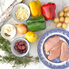 •Greek style chicken foil packet dinner