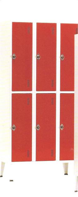 Armário vestiário de 6 cacifos