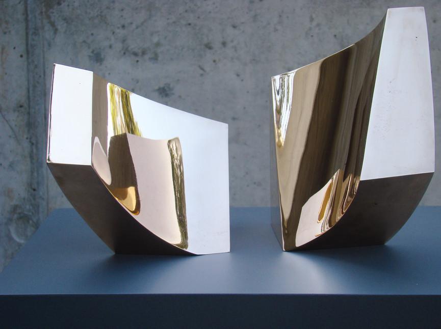 Die Philosophen, Broze hochglanz, Höhe ca. 20 cm