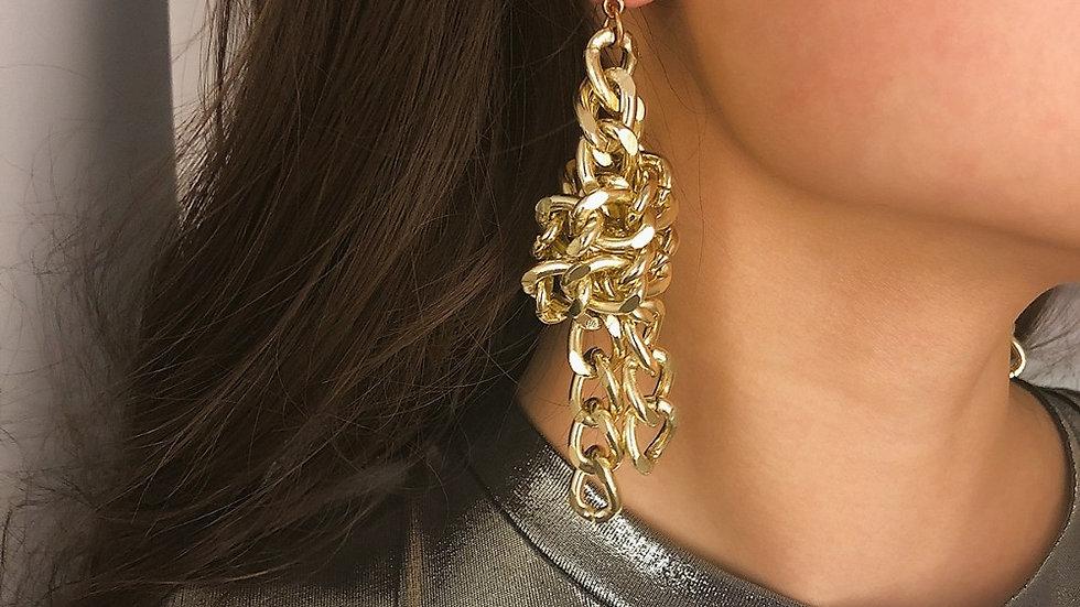 Knot Long Drop Earrings