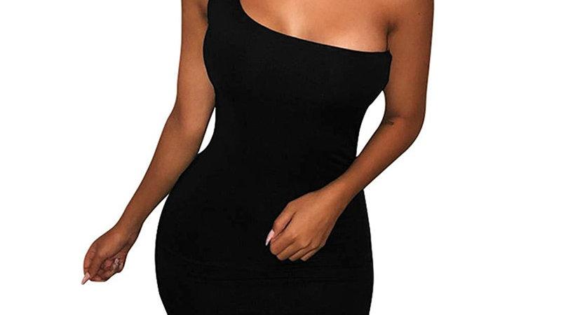 One Shoulder Sassy Dress