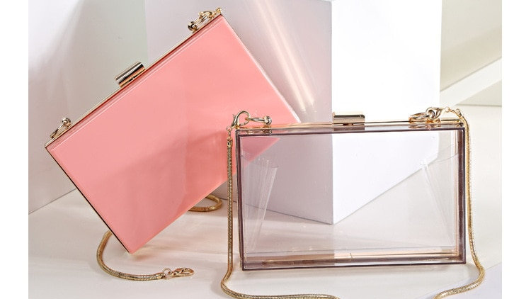 Transparent Women Clutch  Shoulder Bag