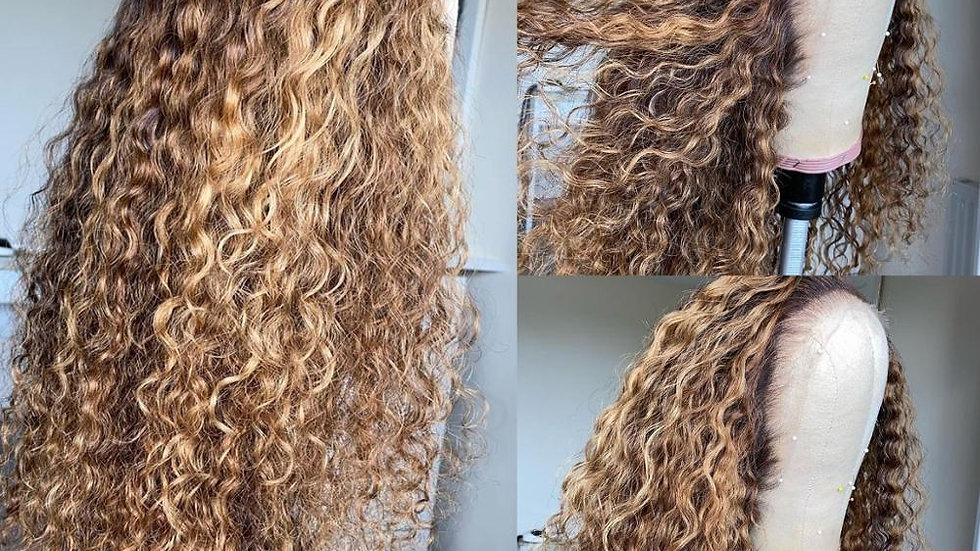 Curly Lace Front Human Hair Wigs Pre-Plucked