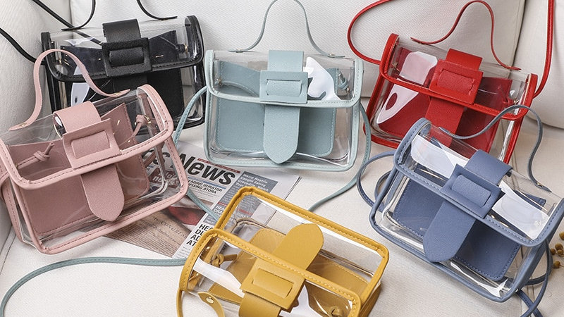 Fashion  Transparent Square Sling Bag Shoulder Bag