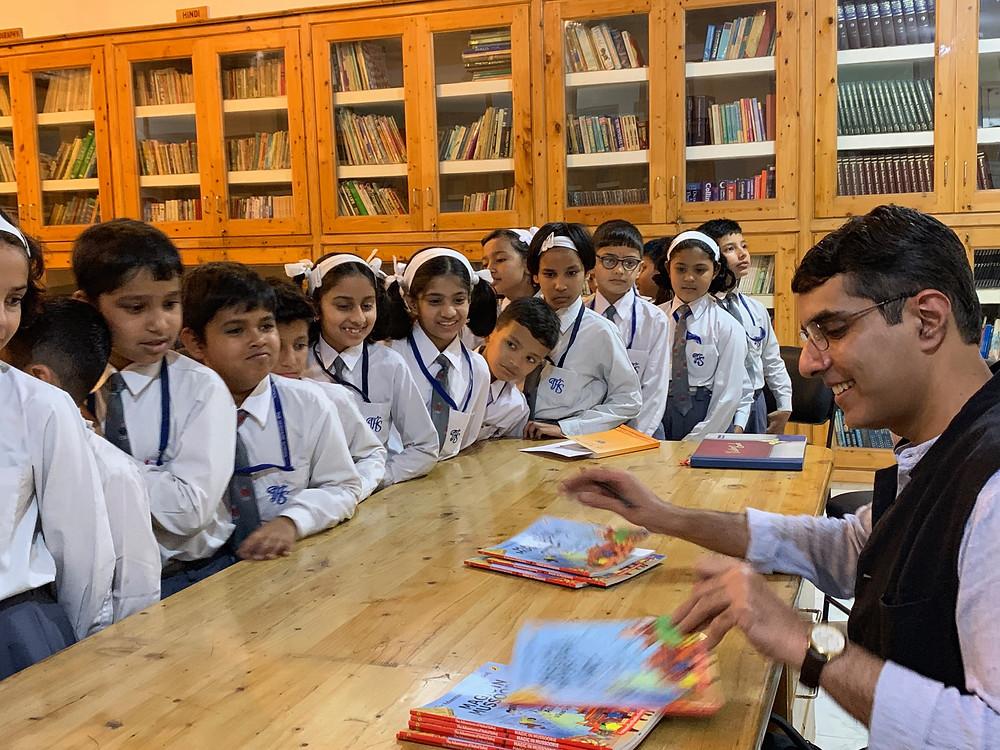Atul Sethi signing books