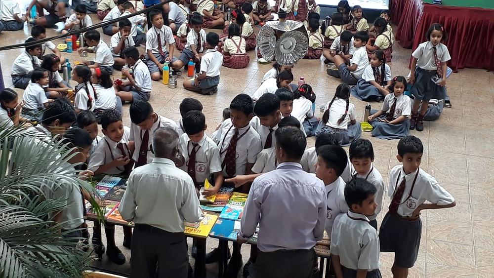 Children browsing books