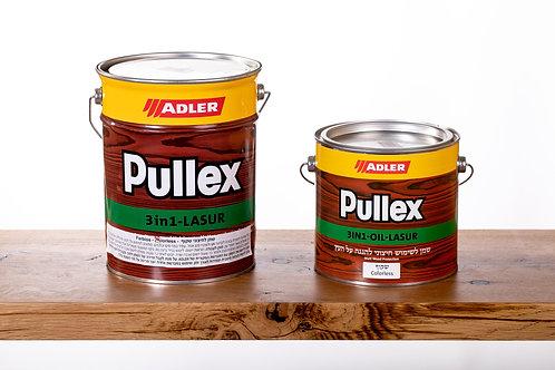 Pullex 3in1 LASUR ADLER שמן לעץ חיצוני 2.5 ליטר - שקוף