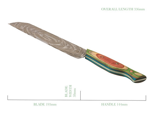 The Rainbow Lobster Kitchen Knife
