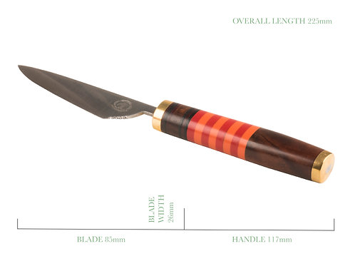Outdoor utility knife and skinner hand made and handcrafted in Auckland, New Zealand