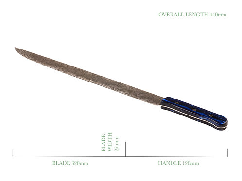 12 Inch Filleting Knife with Patina