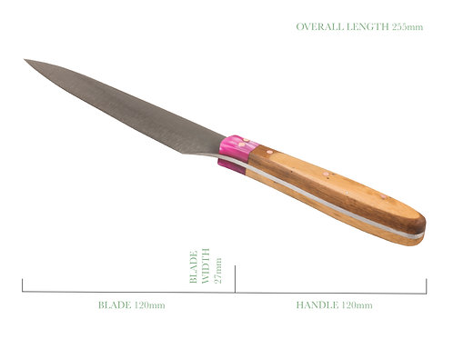 Bamboo and Orchid Pink Paring Utility Knife