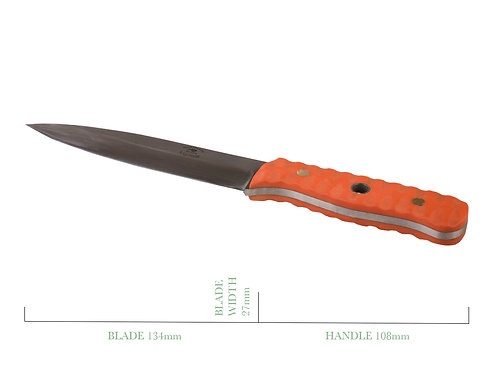 Wolhuter Replica Hunting Knife with Scalloped G10 Handle