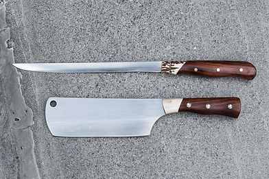 Sika and Totara Cleaver and Wooden handl