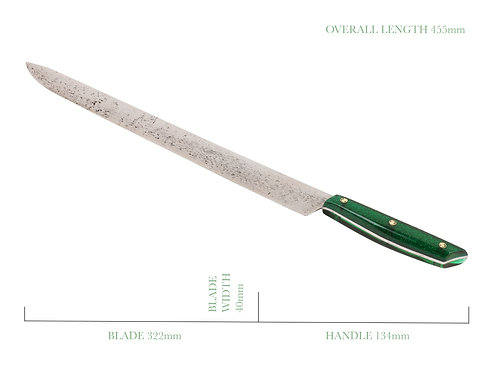 The Green Mamba Single Bevelled Sashimi Knife