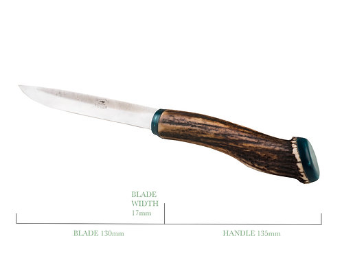 Bird and Trout Boning Knife with Deer Antler Handle