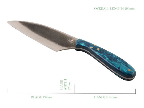 Aquatic Sunrise Modern Santoku