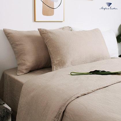 French Linen Bedding - Khaki